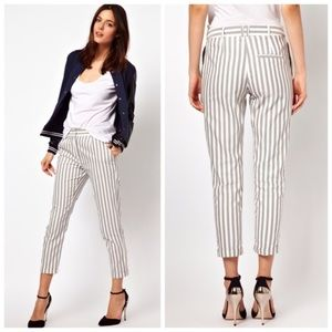ASOS grey striped pants